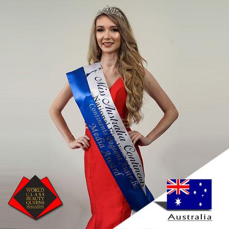 Rachel Gallagher National Finalist Miss Australia Continents 2018, Media Award