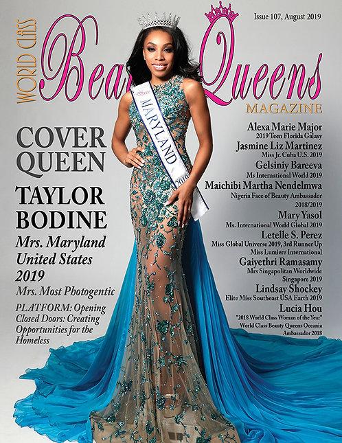Issue 107 World Class Beauty Queens Magazine