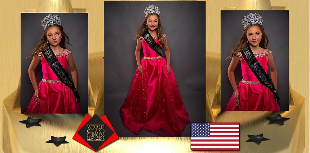 Addison Shaw 2020 Pure International Preteen Mississippi, World Class Princess Magazine, Photo by TeeRage Photography
