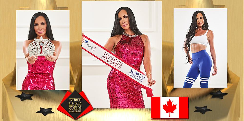 Brenda Cheveldayoff Ms. Canada World International Pro, 2021, World Class Beauty Queens Magazine, Photo by Arsenik Studios Inc.