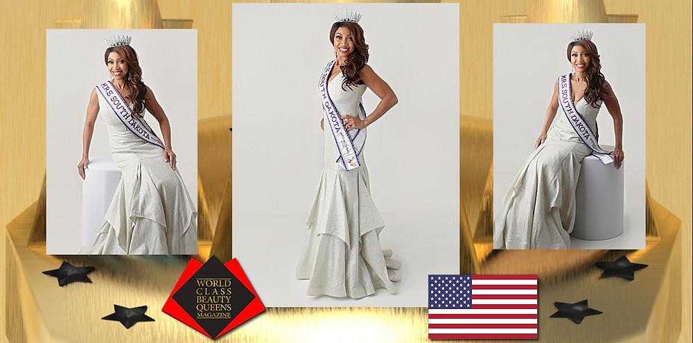 Victoria L. Borges Mrs. South Dakota International 2020, World Class Beauty Queens Magazine, Lynn Marie Photography