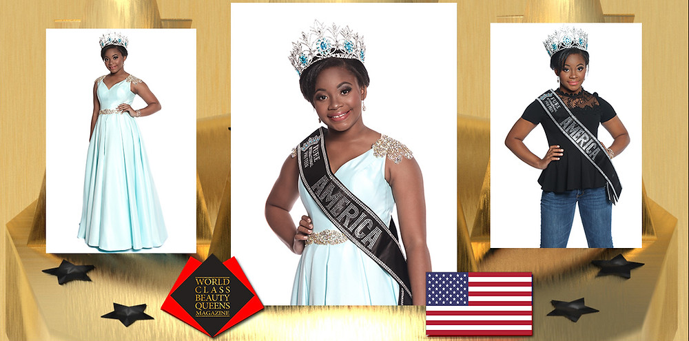Aniyah Cropper Pure International Preteen America 2019, World Class Beauty Queens Magazine, Photo by Elizabeth Clary