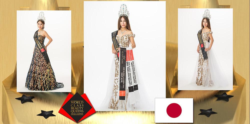 Emiko Yamamoto MRS EAST ASIA GLOBAL UNIVERSE 2020, World Class Beauty Queens Magazine, Photo by Akihito Mori