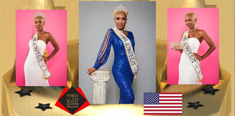 Simmone Blake Mrs. Ultimate Elite 2020, World Class Beauty Queens Magazine,