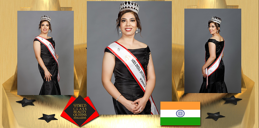 Upaasana Kalia Mrs India International Queen 2020, World Class Beauty Queens Magazine,