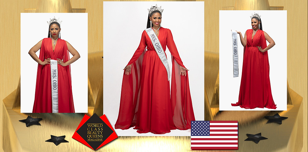 Cynthia Bowers-Martin United States of America's Mrs. Ohio 2020, World Class Beauty Queens Magazine,