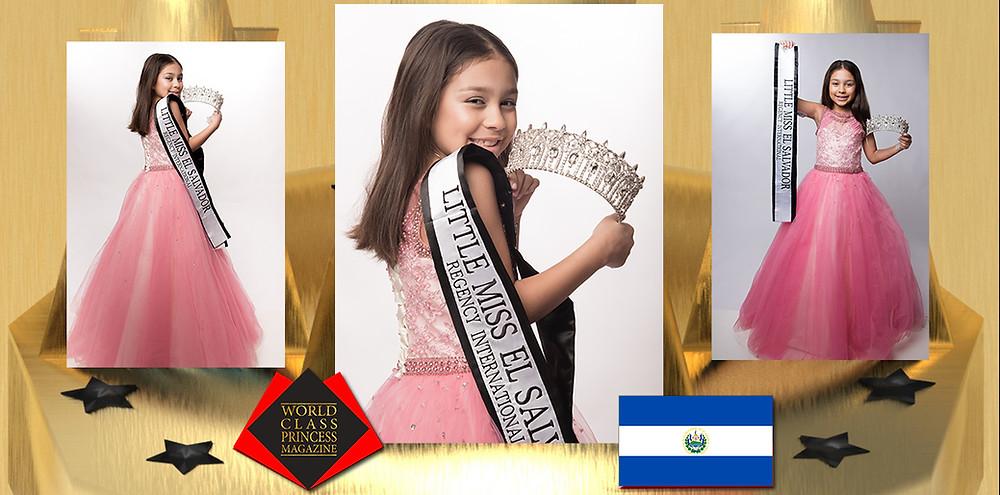 Bianca Marie Villalobos Little Miss El Salvador Regency International, World Class Princess Magazine