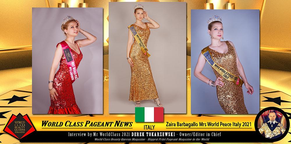 Zaira Barbagallo Mrs World Peace Italy 2021, World Class Beauty Queens Magazine, Photo by Giorgio Willy Olivetti Photo Moda