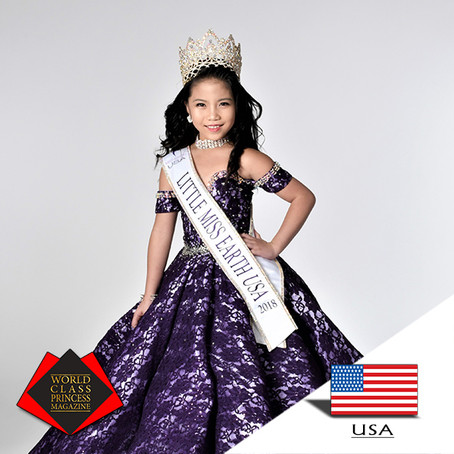 Crystal Saphire Little Miss Earth USA 2018