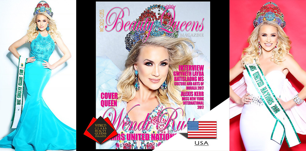 Wendi Russo Mrs. United Nations 2016 , World Class Beauty Queens Magazine,