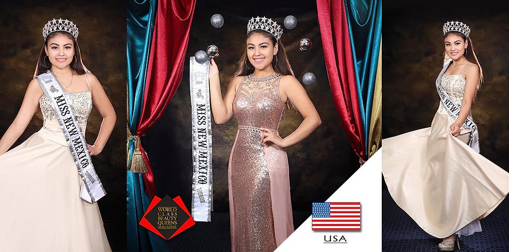 Valeria Adriana Marquez Mejia 2020 World's Teen Miss New Mexico Tourism, World Class Beauty Queens Magazine,