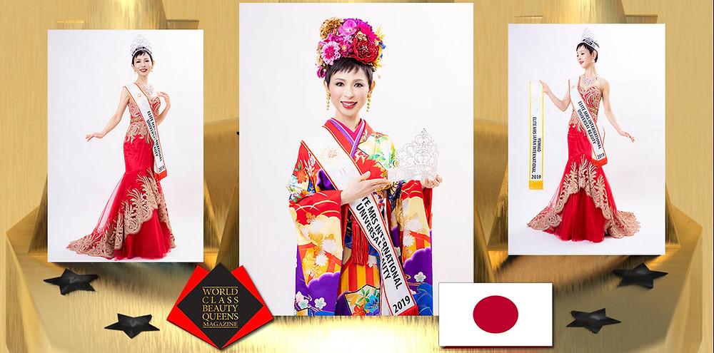 Yumiko Ogihara Elite Mrs International Universal Beauty 2019, World Class Beauty Queens Magazine, The National Costume Designer & Photography Director Eiko Ueda