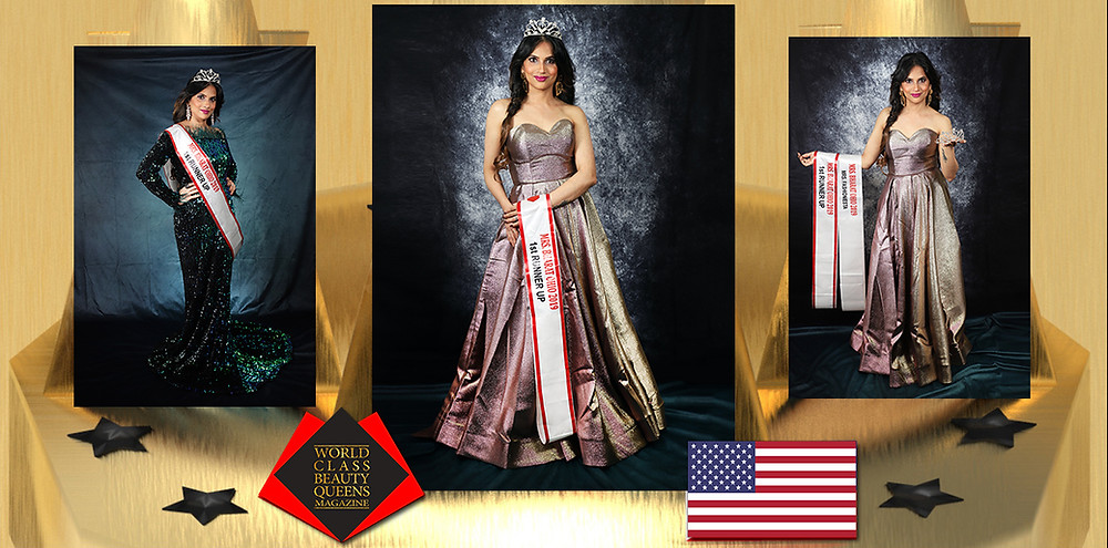 Manali Anand Mrs. Bharat Ohio First Runner Up 2019-2020, Photographer : Eliteplus Photography, Creative Director : Nehal Patwa HMUA : Anupama Singh Stylist : Manali Anand