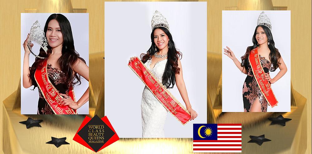Rujilin David Lanjob Mrs Queen of the World, Angel Queen Winner 2019, World Class Beauty Queens Magazine,
