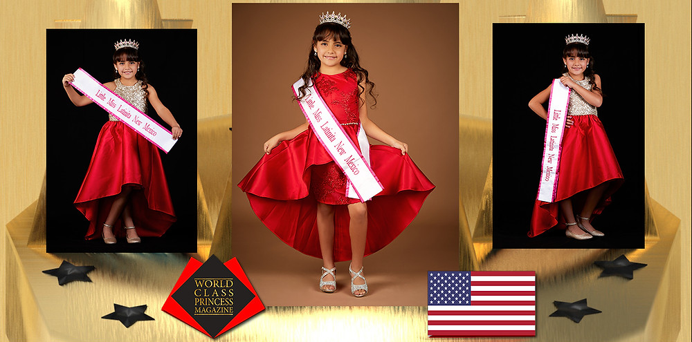 Marian Sinahi Falcon Miss Little Latinita New Mexico 2019, World Class Princess Magazine, Photo by Creative Works-Keith Green Photography