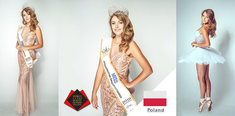 Karolina Skowerska Miss of Swietokrzyskie Voivodeship 2019, World Class Beauty Queens Magazine, Photo by Daniel Gołębiowski