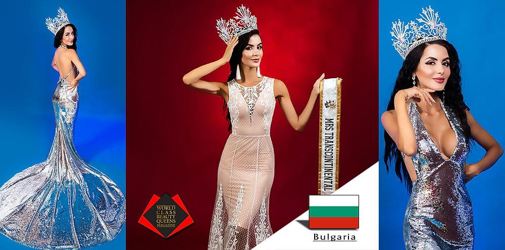 Polina Atanasova Panyova – Bilyk Mrs Transcontinental 2019, World Class Beauty Queens Magazine,