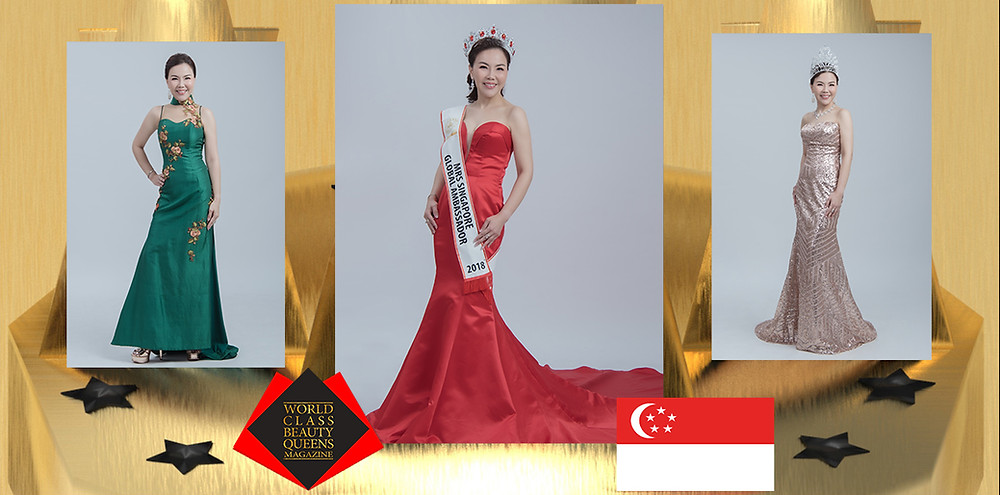 Dato Sri Marilyn Tay Bee Choo Mrs Singapore Global Ambassador 2018, World Class Beauty Queens Magazine