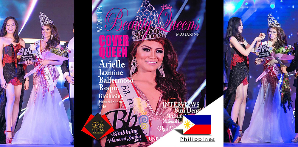 Arielle Jazmine Balfermoso Roque Binibining Heneral Santos 2016, World Class Beauty Queens Magazine,