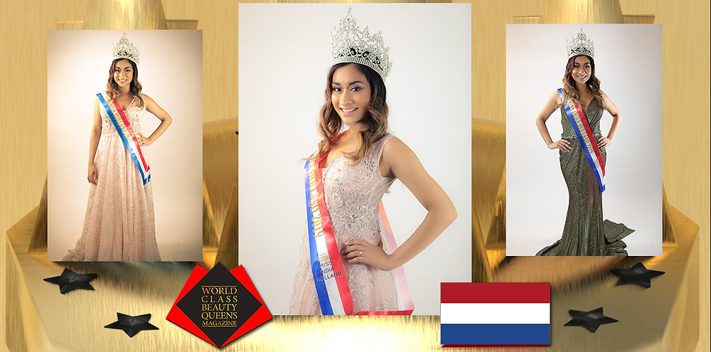 Farisha Abdoelrahman Miss India Holland 2019, World Class Beauty Queens Magazine,