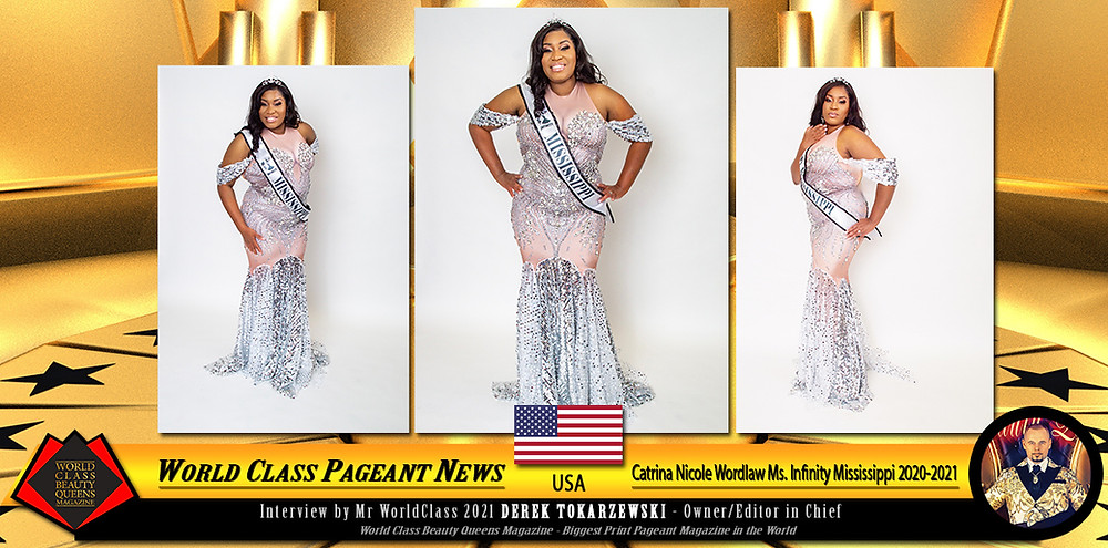 Catrina Nicole Wordlaw Ms. Infinity Mississippi 2020-2021, World Class Beauty Queens Magazine,