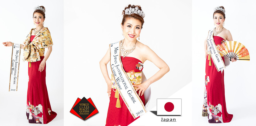 Masako Sasagawa Mrs Japan International Global 2019, World Class Beauty Queens Magazine,