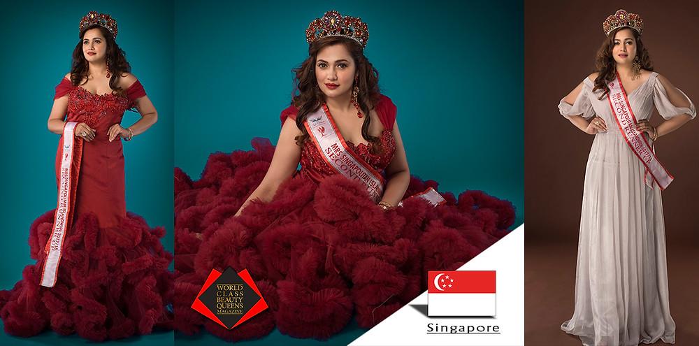Jamilah Khan Mrs Singapolitan 2017/18 2nd Runner up, World Class Beauty Queens Magazine,