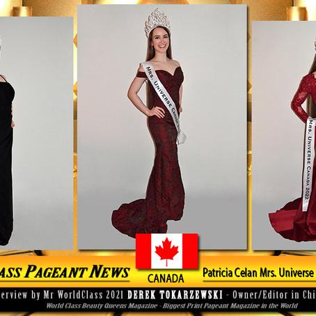 Patricia Celan Mrs. Universe Canada 2022-2023