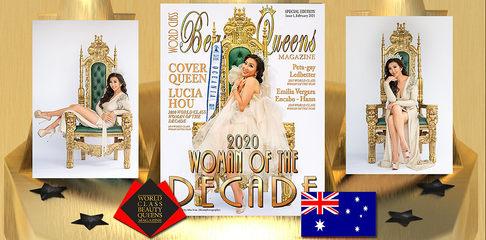 Sec Lucia Hou 2020 World Class Woman of the Decade, World Class Beauty Queens Magazine