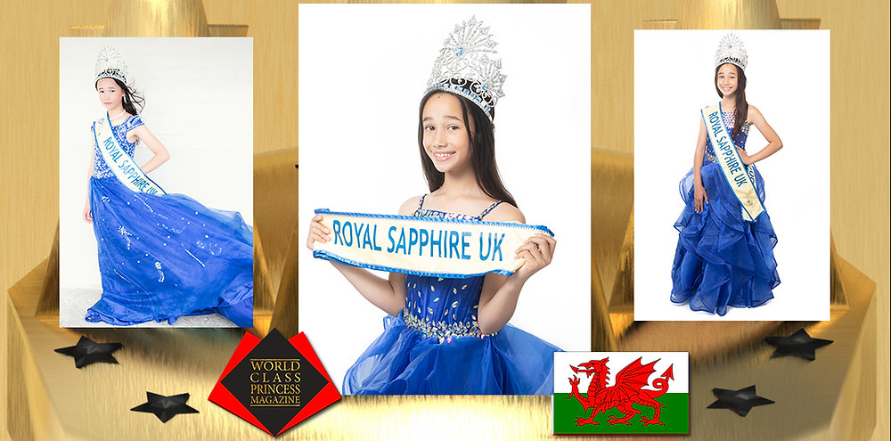 Alyssa Dean Junior Miss Royal Sapphire United Kingdom 2019-2020, World Class Princess Magazine