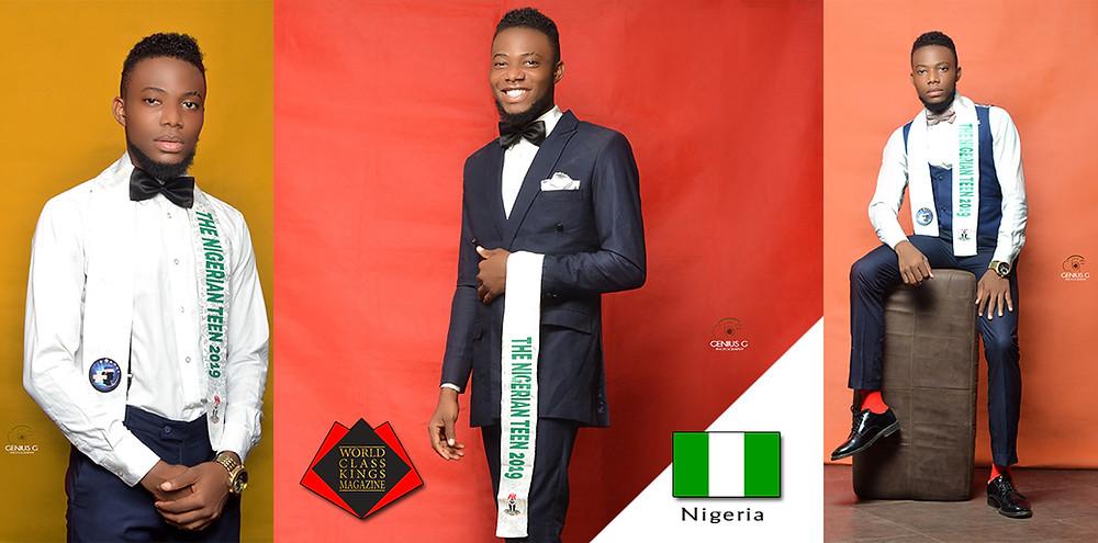 Okoronkwo Kelechi Valentine The Nigerian Teen King 2019, World Class Kings Magazine, Photo by Genius G Photography