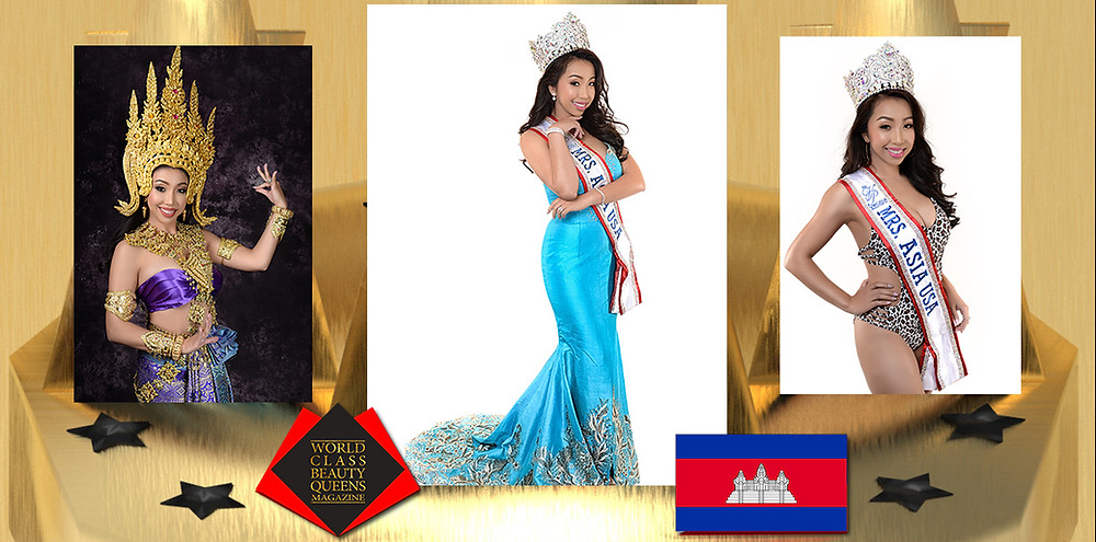 Niza Oun-Nguyen Mrs. Asia USA 2019-2020, World Class Beauty Queens Magazine, Photo by Act Vinai of v9creative, Stylist is: The Phukaw Makeup and Hair: Chanokporn Pumpruck