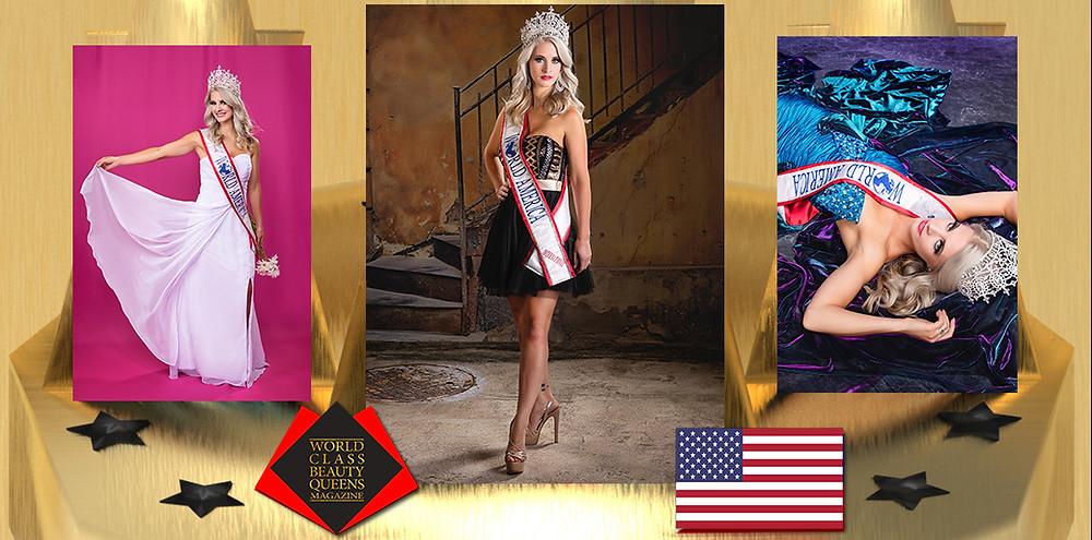 Cassandra Wallace Ms World International Mrs. 2019, World Class Beauty Queens Magazine,