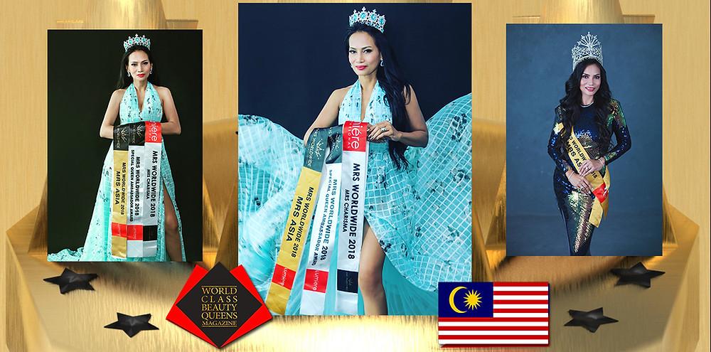 Shyleena Faridah Hope Mrs Asia Worldwide 2018, World Class Beauty Queens Magazine,