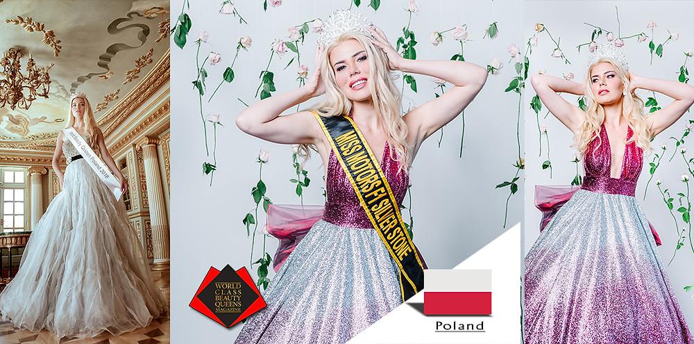 Joanna Borov Miss Motors Formula 1 Silverstone 2018 and World Beauty Queen Poland 2018, World Class Beauty Queens Magazine,
