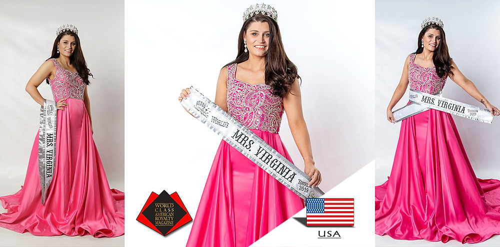 Tiffany Lockhart Worlds Mrs Virginia Tourism 2019, World American Royalty Queens Magazine.