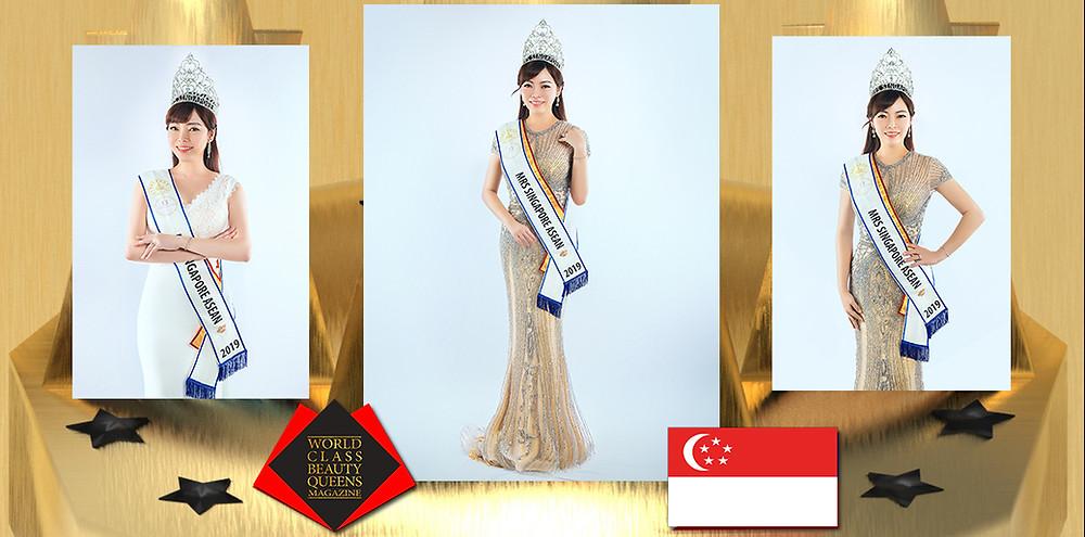 Kee Wern Shing KymmieTKS Mrs Singapore ASEAN2019, World Class Beauty Queens Magazine,