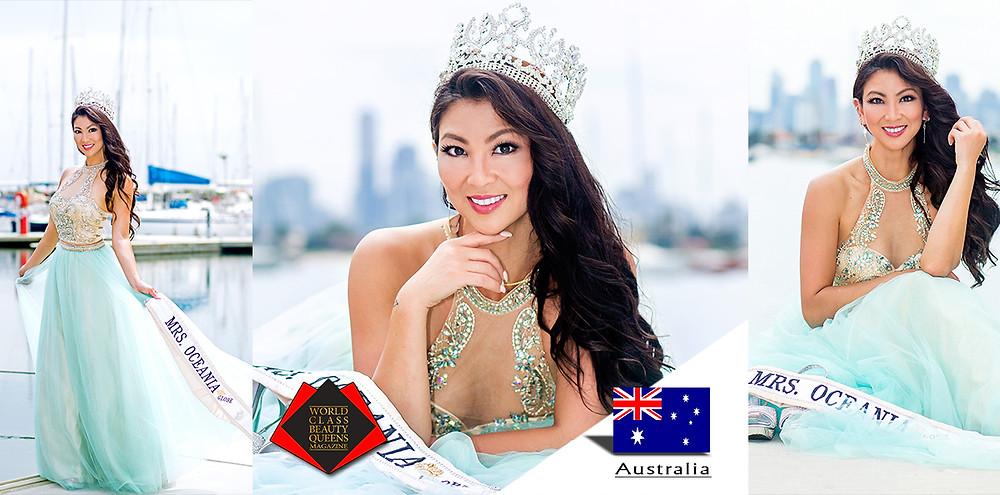 Sec Lucia Hou Mrs Oceania Globe 2017, World Class Beauty Queens Magazine,
