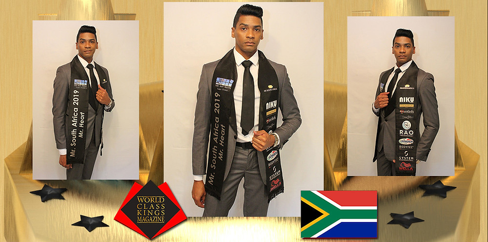 Johan Daniels Mr. South Africa Mr. Heart 2019, World Class Kings Magazine,