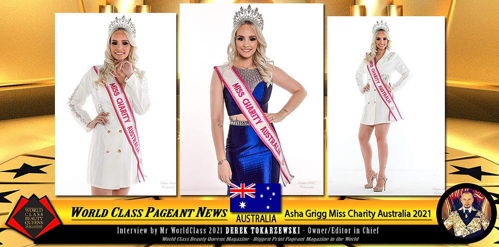 Asha Grigg Miss Charity Australia 2021, World Class Beauty Queens Magazine,