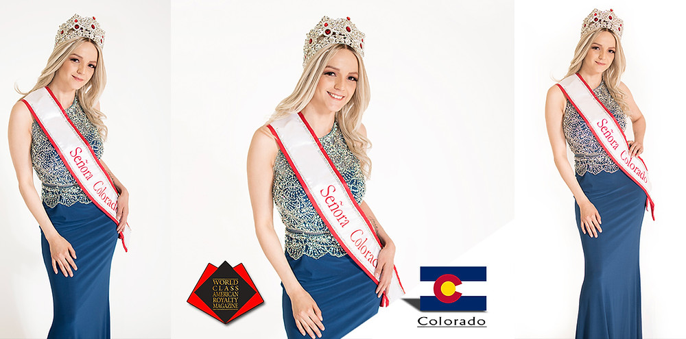 Ilse Holguin Hagelsieb Mrs Colorado 2018, World Class American Royalty Magazine, Photo by MVA Photography