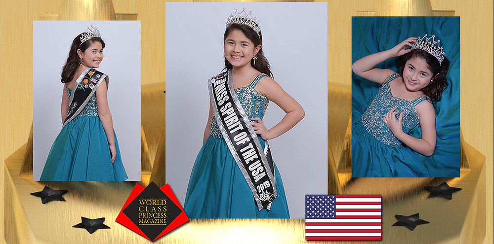 Charlotte Toole Mini Miss Spirit of the USA 2019, World Class Princess Magazine, Photo by Lifetouch Portrait Studios