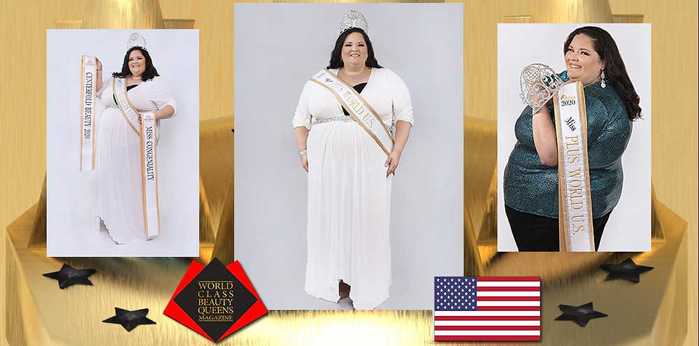 Jessica Edwards Miss U.S. Plus World 2020, World Class Beauty Queens Magazine,