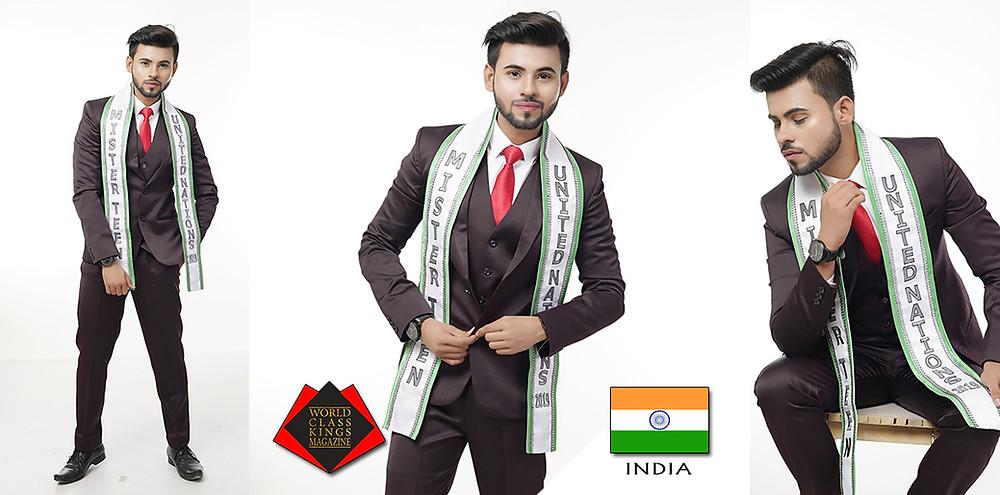 Amit Kumar Chauhan Mr.Teen United Nations 2019, World Class Kings Magazine,