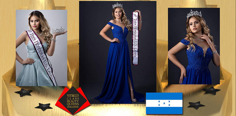 Arly Amador Miss Teen Honduras US Latina 2019-2020, World Class Beauty Queens Magazine,  Alanis Photography by Yare and Pablo Alanis, MUA Genesis Yacua
