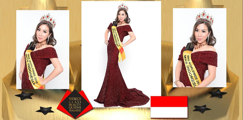 Susana Lim Mrs.Indonesia Worldwide 2019, World Class Beauty Queens Magazine,