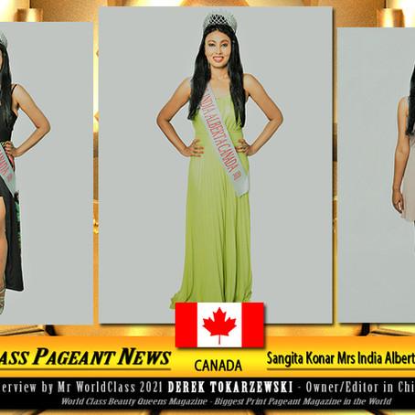 Sangita Konar Mrs India Alberta Canada 2020-2021