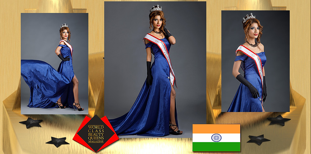 Rajni Jha Mrs India International Queen 2020 2nd R.U., World Class Beauty Queens Magazine,