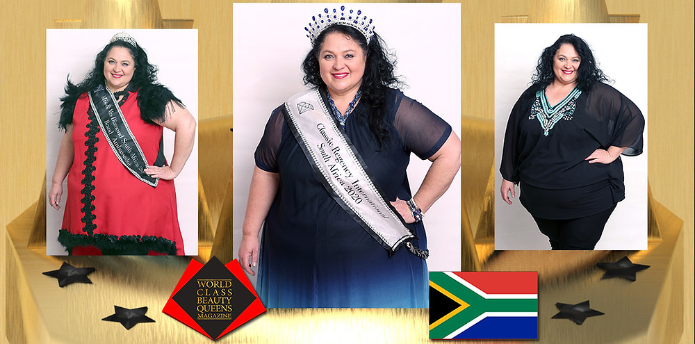 Veronica van der Neut Mrs Classic Regency International South Africa 2020, World Class Beauty Queens Magazine, Photos by Matthew de Jager, Berdine Make up