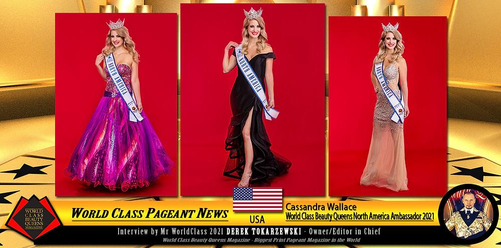 Cassandra Wallace World Class Beauty Queens North America Ambassador 2021, World Class Beauty Queens Magazine,